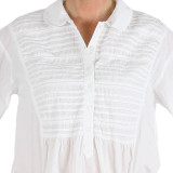 Women's white 100% cotton sleepshirt