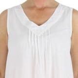 Women's 100% lightweight cotton sleeveless nightgown