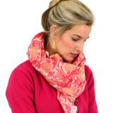 Women's soft red orange merino wool shawl