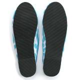 Isabella Aqua canvas slippers