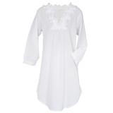 Pure cotton cambric  lightweight women's long sleeve nightshirt