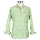 Women's 100% cotton poplin, long sleeve, button-down shirt