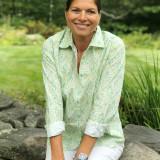 Women's long sleeve, button-front cotton shirt
