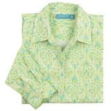 Women's 100 percent cotton, long sleeve, button-down shirt