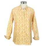 Clare Orange Pleated Shirt