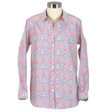 Women's cotton, long sleeve shirt with button-down front