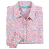 Women's button-down style, long sleeve, 100% cotton shirt