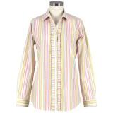 Women's long sleeve cotton, button-down shirt