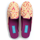 Clare Orange canvas slippers