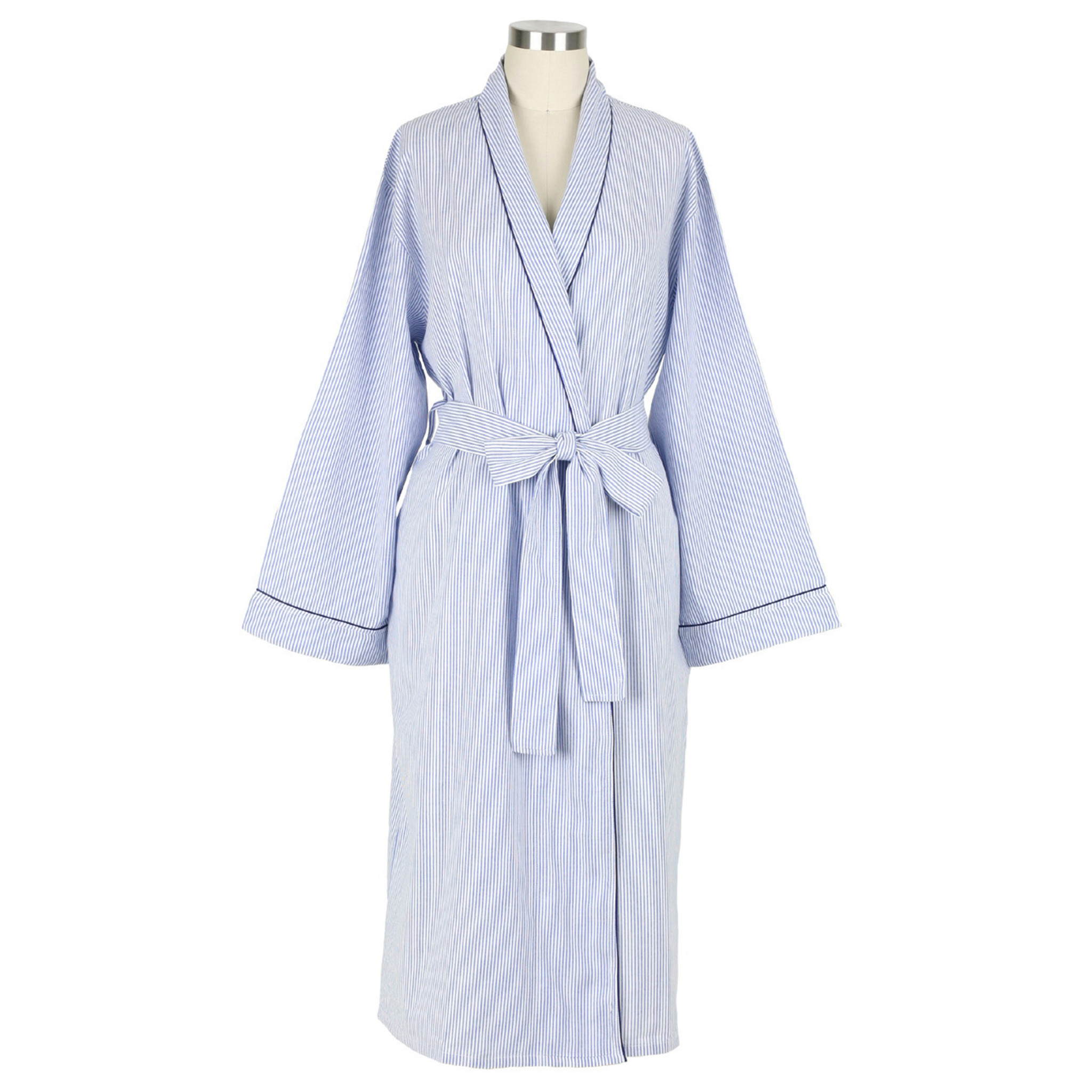 on sale online select for original popular design Blue Seersucker-Navy Robe