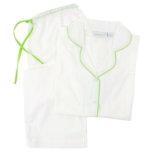 Short sleeve, lightweight cotton cambric pj set