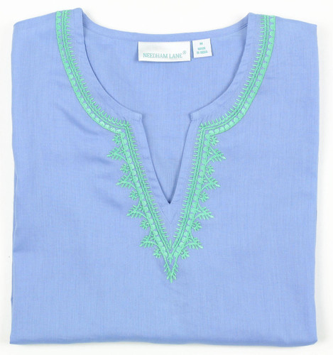 Carolina Blue embroidered tunic