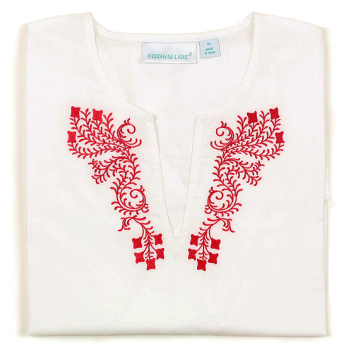 Fiji Poppy Embroidered Tunic