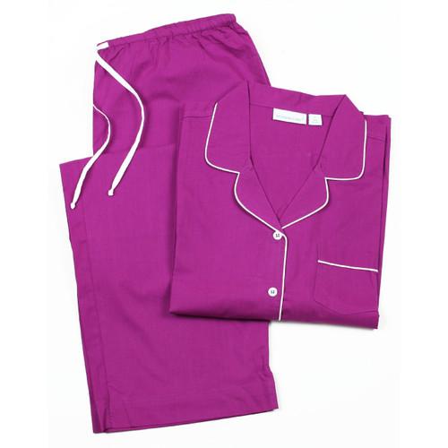 Cooper Plum long sleeve pajamas
