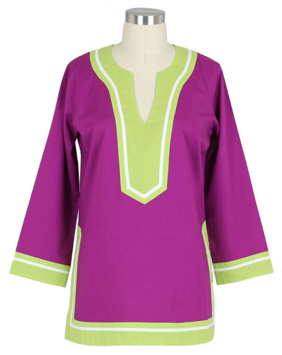 Seabury Plum/Lime tunic