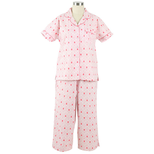 All cotton short sleeve pajamas for women