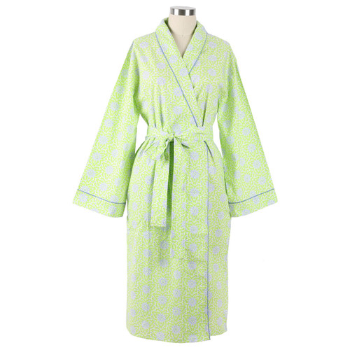 100% cotton women's shawl collar robe