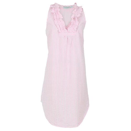 Pink & White Striped seersucker nightgown