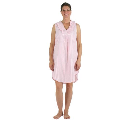 Pink Seersucker nightgown