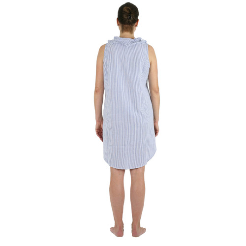 Blue Seersucker nightgown