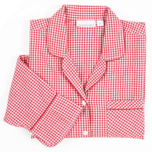 Red Gingham long sleeve pajama