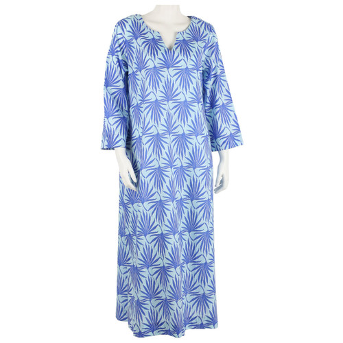 Palma Sky long split neck kaftan