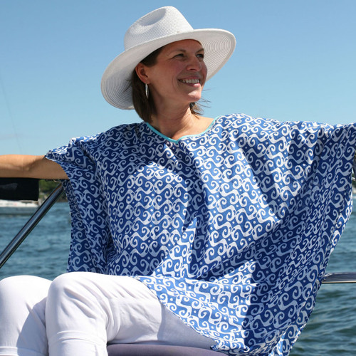 Newport Navy V-Neck Kaftan