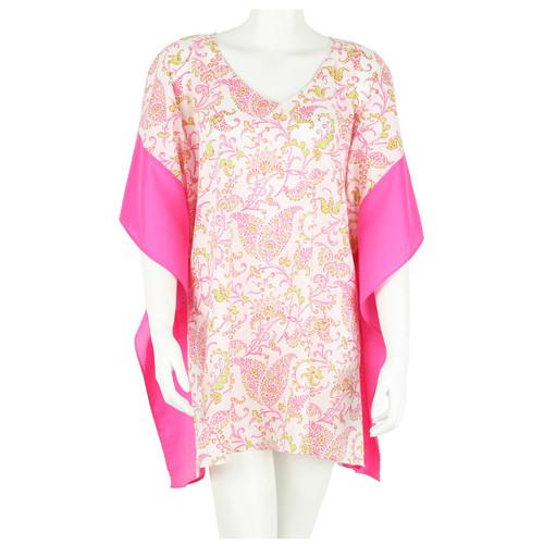 Calypso Pink V-Neck Kaftan