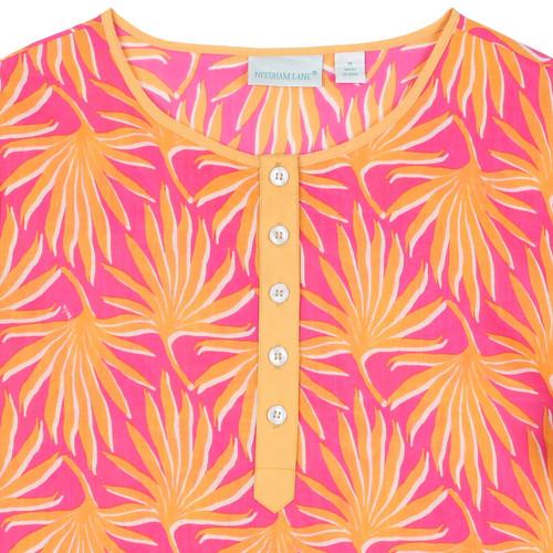 Palma Peach Button Front Kaftan