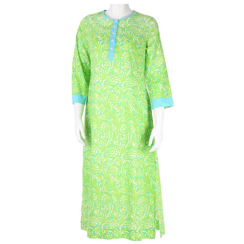 Sanibel Jade Button Front Kaftan