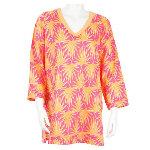 Palma Peach V-Neck Tunic