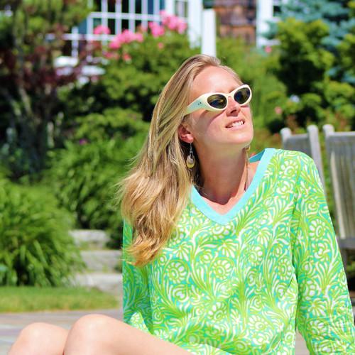 Sanibel Jade V-Neck Tunic
