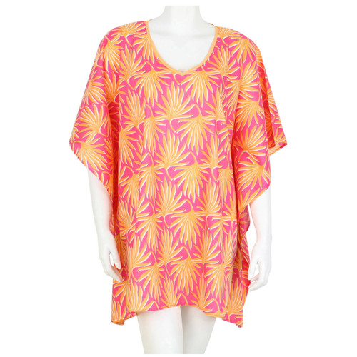 Palma Peach V-Neck Kaftan