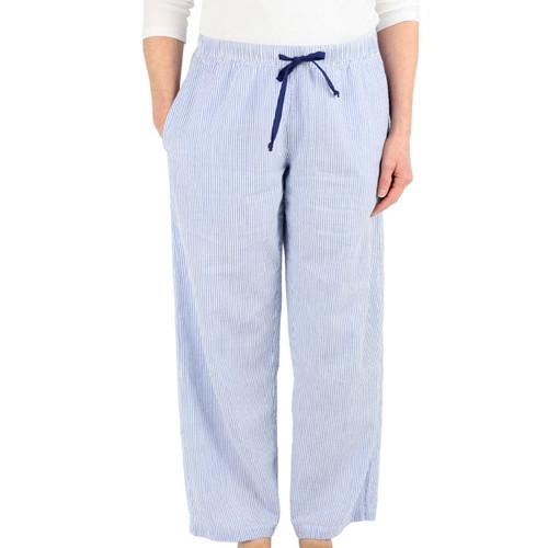 Women's cotton seersucker lounge pants