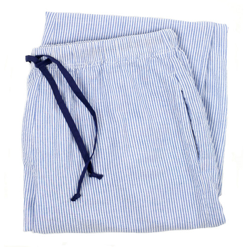 Women's cotton seersucker lounge pants-folded