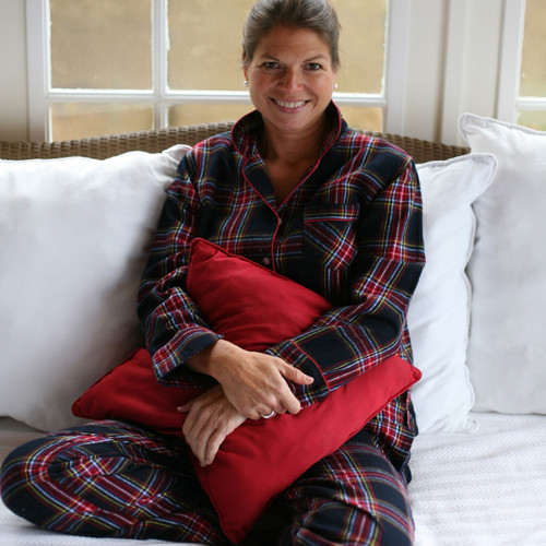 Women's soft 100% cotton flannel pajama set