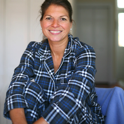 Women's 100% cotton long sleeve flannel pajama set