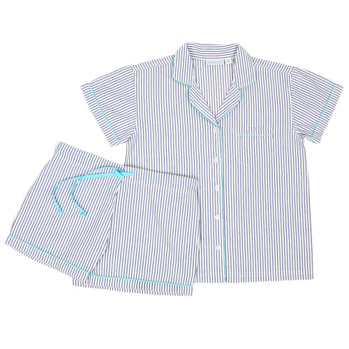 Women's cotton short sleeve shorty pj set