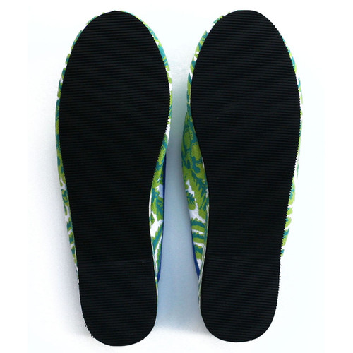 Pineapple canvas slippers