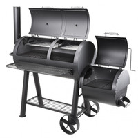The Texas Pro Pit Smoker is one of the most versatile large units on the market, with the option to grill or smoke for a few or for many