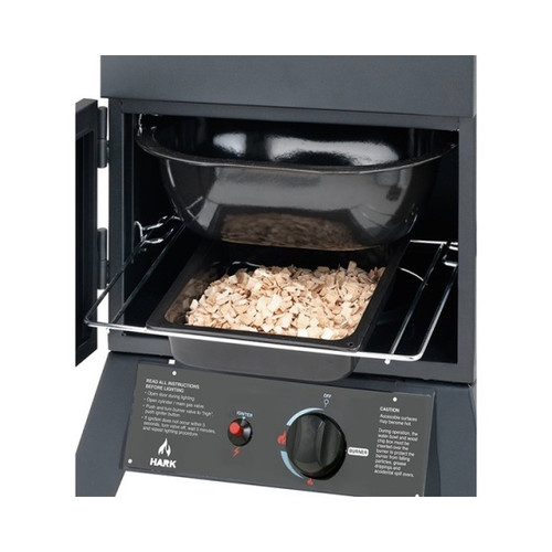 Hark 2 Door Gas Smoker Wood Chip Tray and Lid