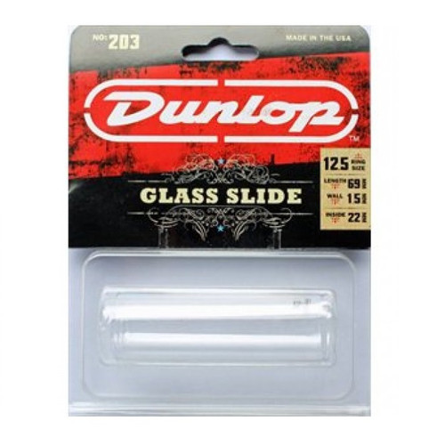 Dunlop USA No.203 Pyrex Glass Slide Regular/Large 22x25x69mm Ring Size 12.5