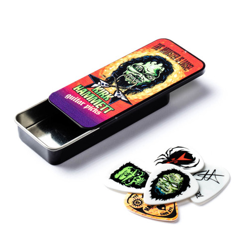 Dunlop Kirk Hammett Signature Guitar Pick Tin 6 Individual Picks Metallica KH01T088