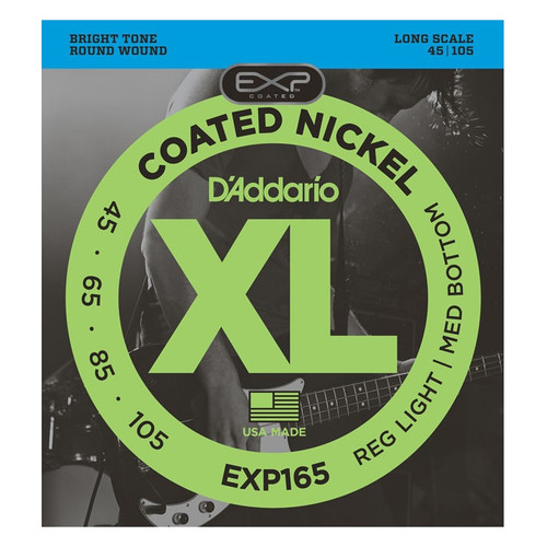 D'Addario EXP165 EXP Coated Bass Guitar Strings 45-105