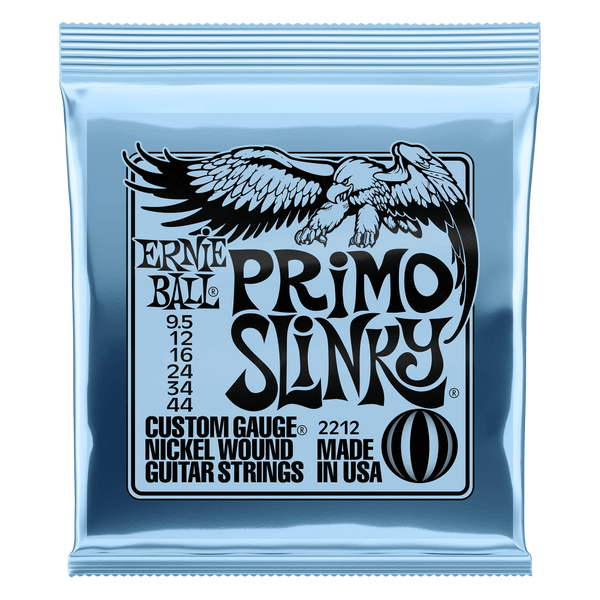 Ernie Ball 2212 Primo Slinky Electric Guitar Strings  9.5-44