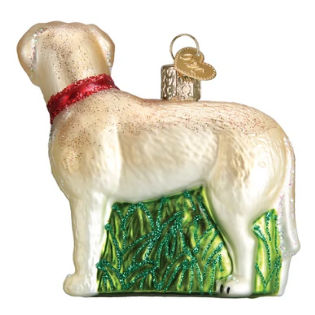 Old World Christmas Standing Yellow Lab Ornament