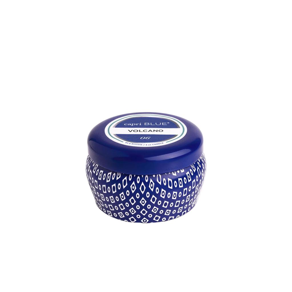 Volcano Blue 3oz Mini Tin Candle