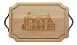 "Tweed Studio ""Home"" Wood Cutting Board with Handles"