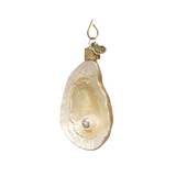 Old World Oyster with Pearl Christmas Ornament