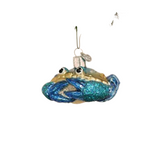 Old World Blue Crab Christmas Ornament